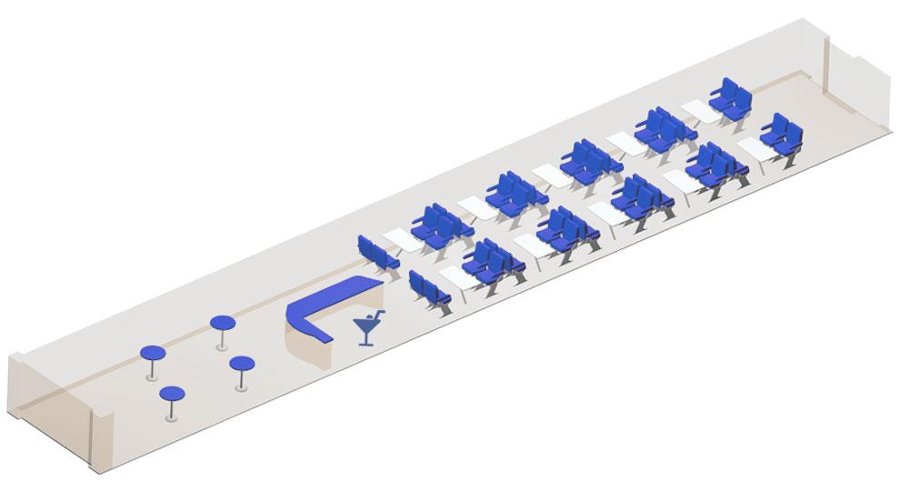 Схема вагона ресторана (бистро)
